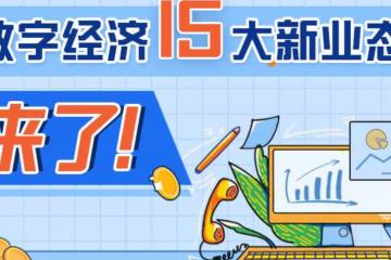 数字经济15大新业态来了!支持微商电商、网络直播等自主就业