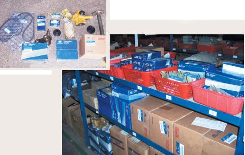 各种国产及进口配件