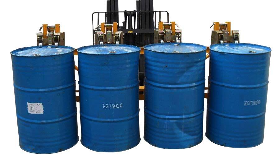 猎诺油桶升高车 堆高车 DG1440B四油桶夹具