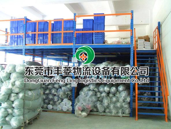 东莞市 丰菱万博体育官网登录网页版设备 阁楼货架