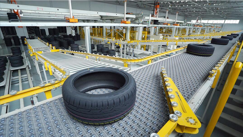 成品轮胎自动分拣系统